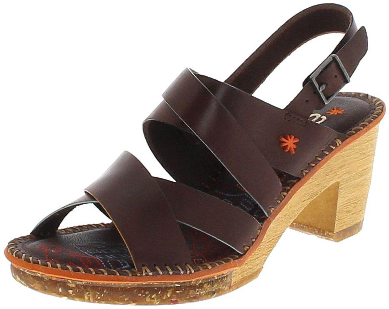 Art 1055 AMSTERDAM Brown Ladies Leather Sandal - brown