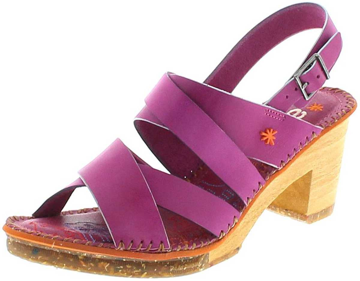 Art 1055 AMSTERDAM Magenta Ladies Leather Sandal - red
