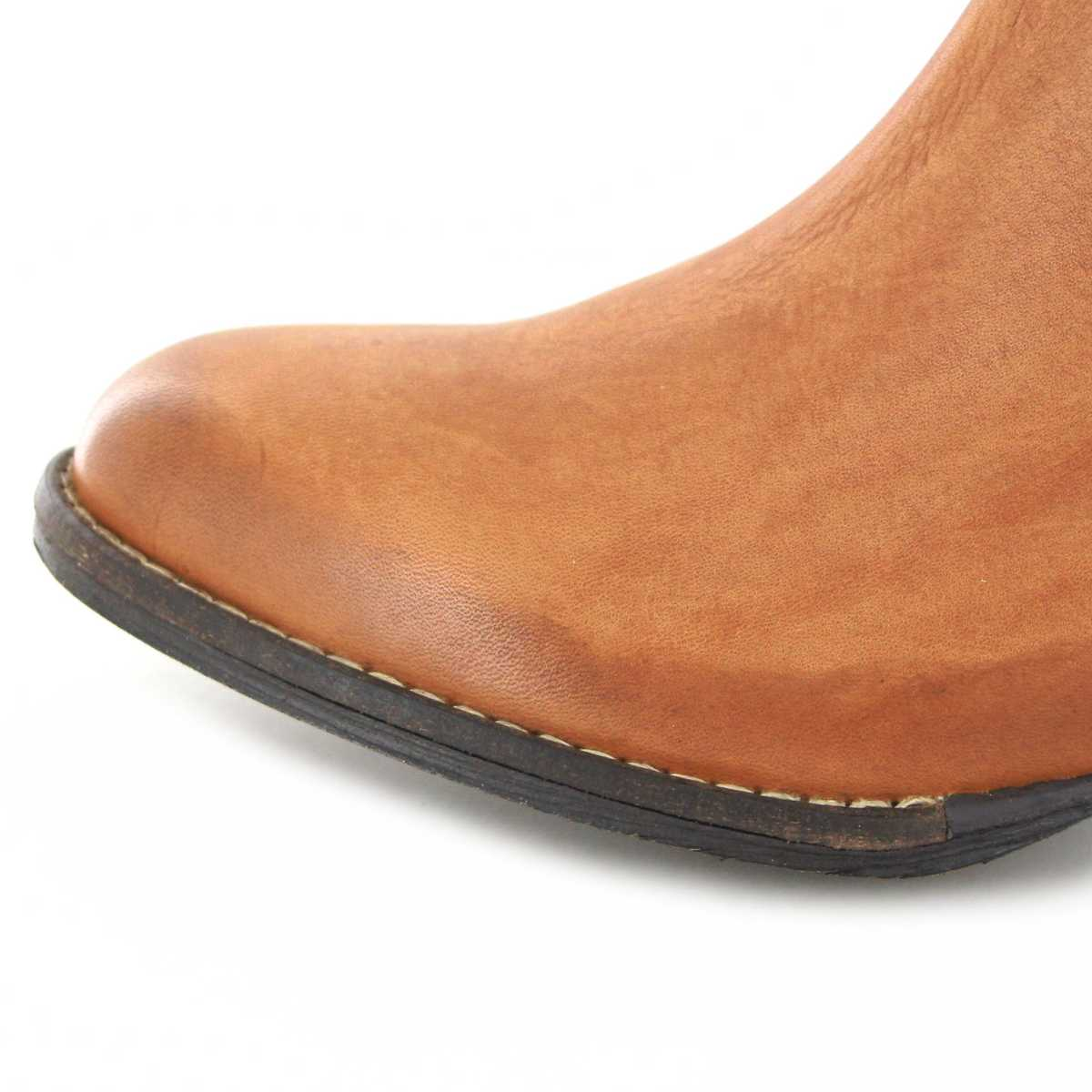 2743f3ea05b Mezcalero Shoes 2033 Sofia Atanado Orange Fashion Bootie - Orange Tang –  Bild 2