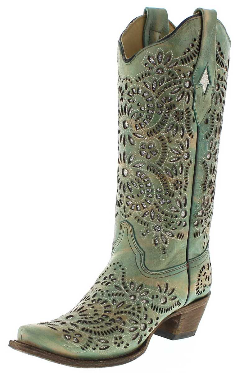 Corral Boots A3353 Blue ladies western boots - blue