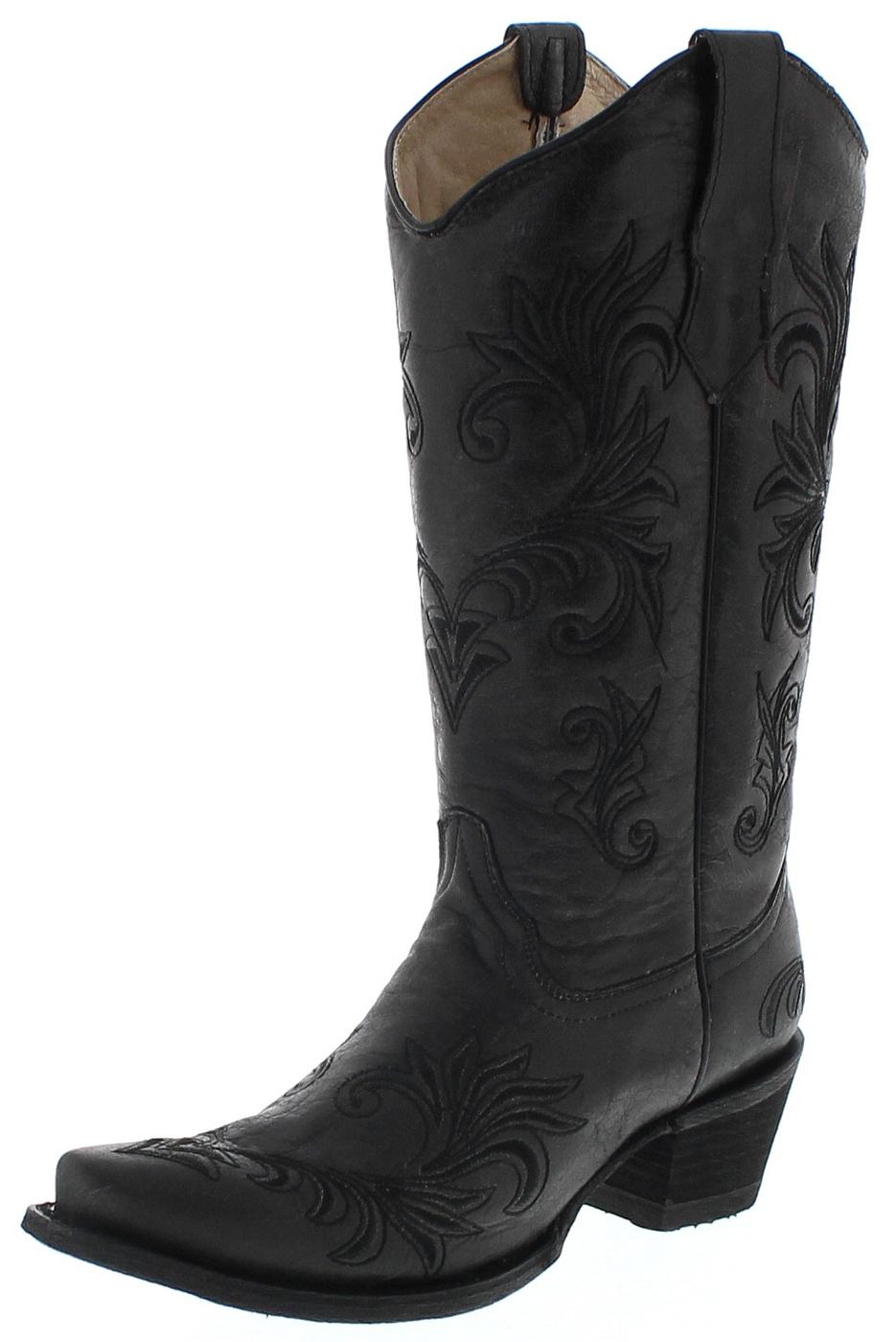 Circle G Boots L5142 Black Damen Westernstiefel - schwarz