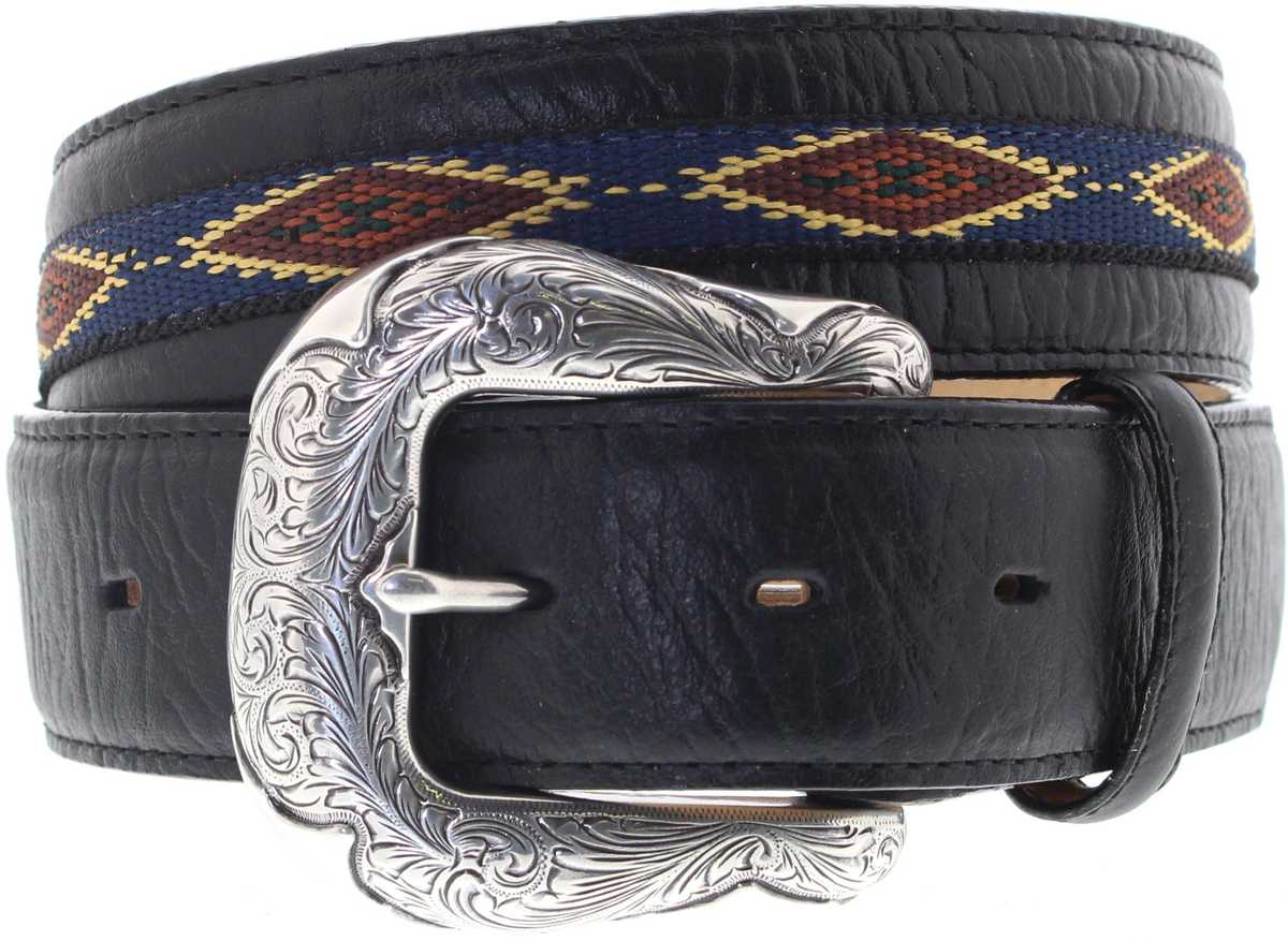 Justin Belts C13653 Northern Bison Belt Westerngürtel - schwarz