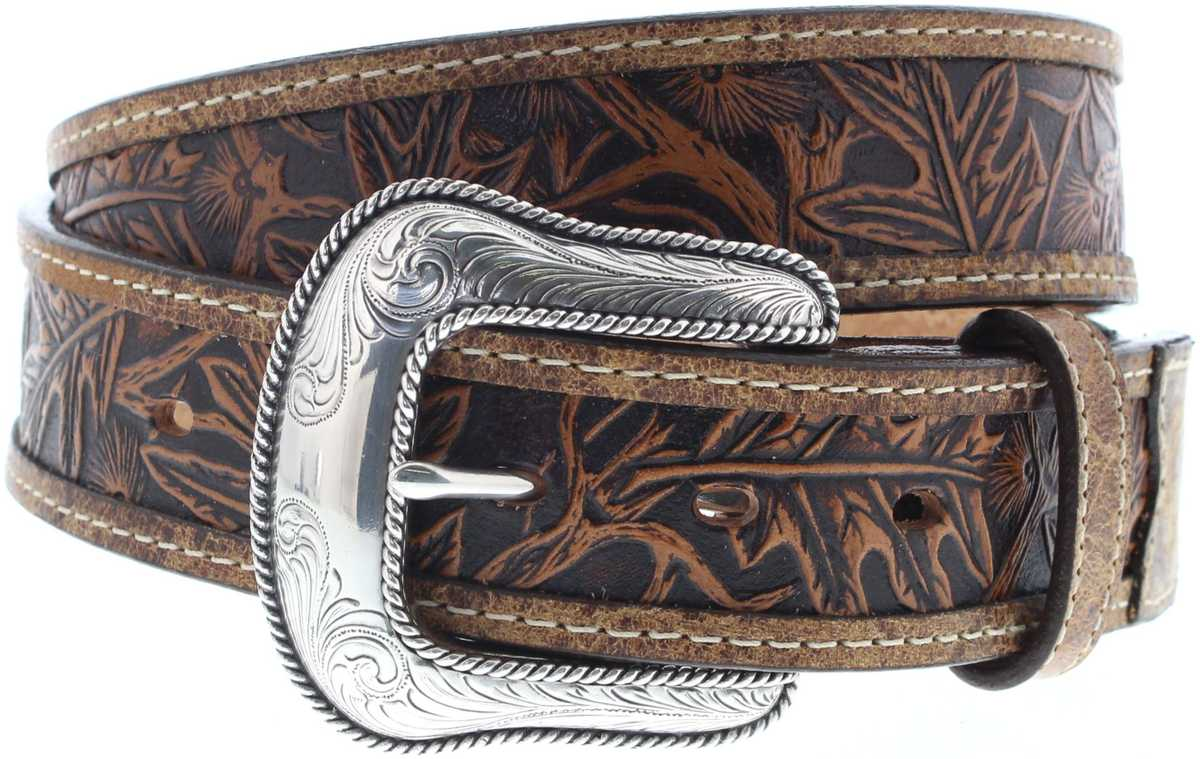Justin Belts C13685 Tan The Huntsman Belt Western Belt - brown