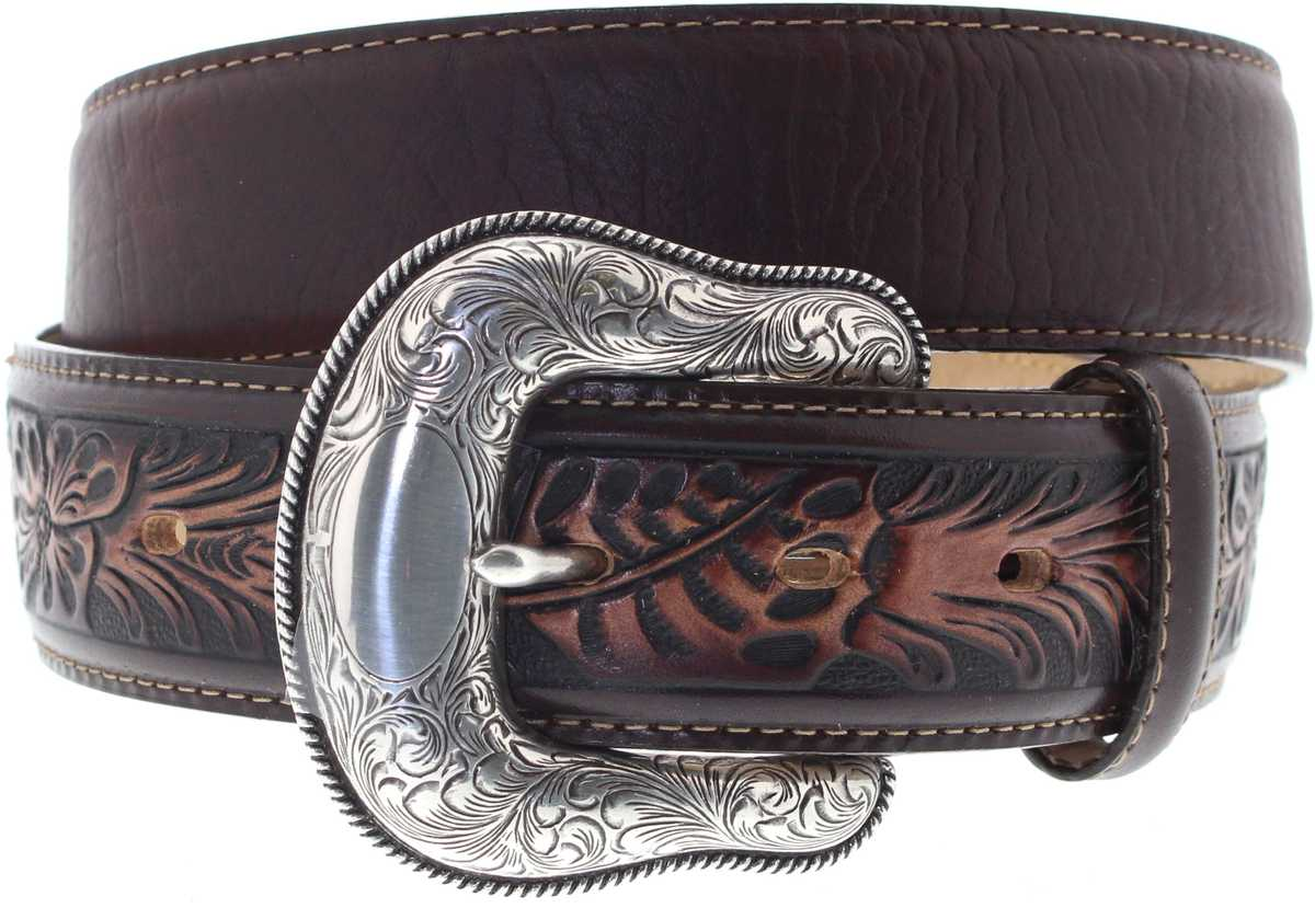 Justin Belts C13715 Brown The Montana Western Belt - brown