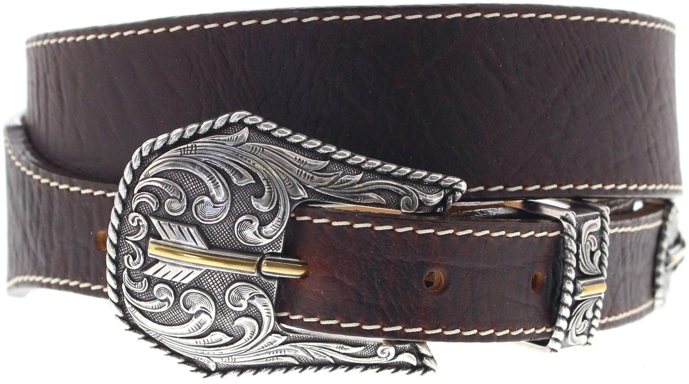 Justin Belts C13745 Brown Broken Arrow Westerngürtel - braun