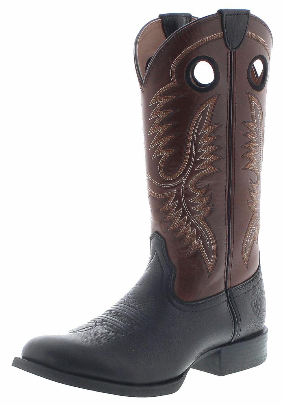 ARIAT 27217 SPORT BIG HOSS Brown Mayan Western riding boots - black