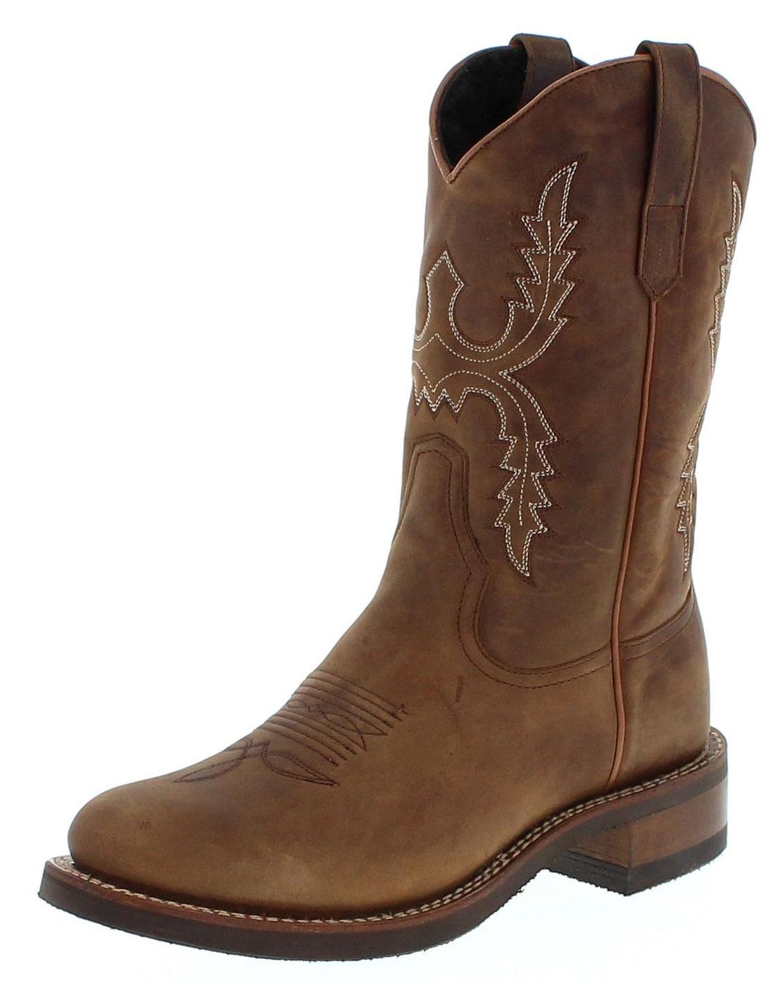 Sendra Boots 11615 Tang Damen Westernreitstiefel mit Merinofell Futter - braun