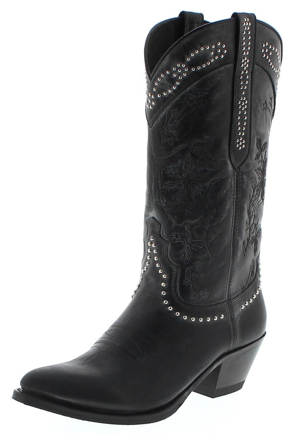 Sendra Boots 15500 Negro Damen Westernstiefel - schwarz