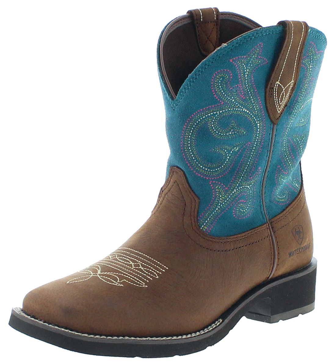 Ariat 21477 SHASTA H2O Brown Turquoise Womens Western Boots - brown turquoise