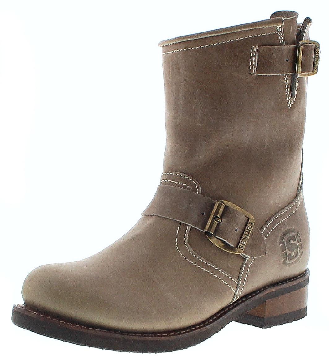 Sendra Hueso Engineer Stiefel Boots Braun Mit Merinofell Futter Damen 10849 Merenillo nwX08kOP
