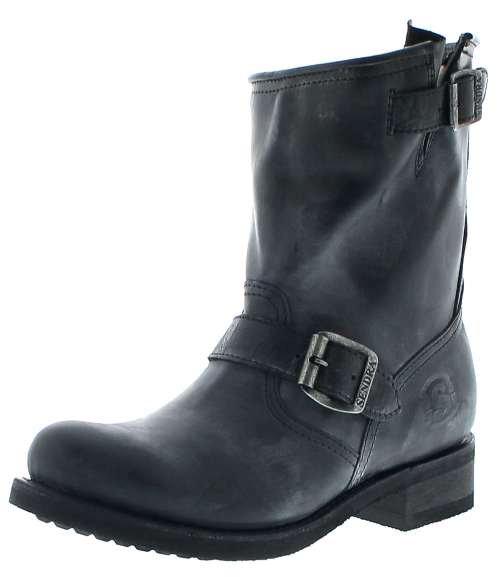 Sendra Boots 10849 Negro Merenillo Ladies Engineer boots with merino fur lining - black