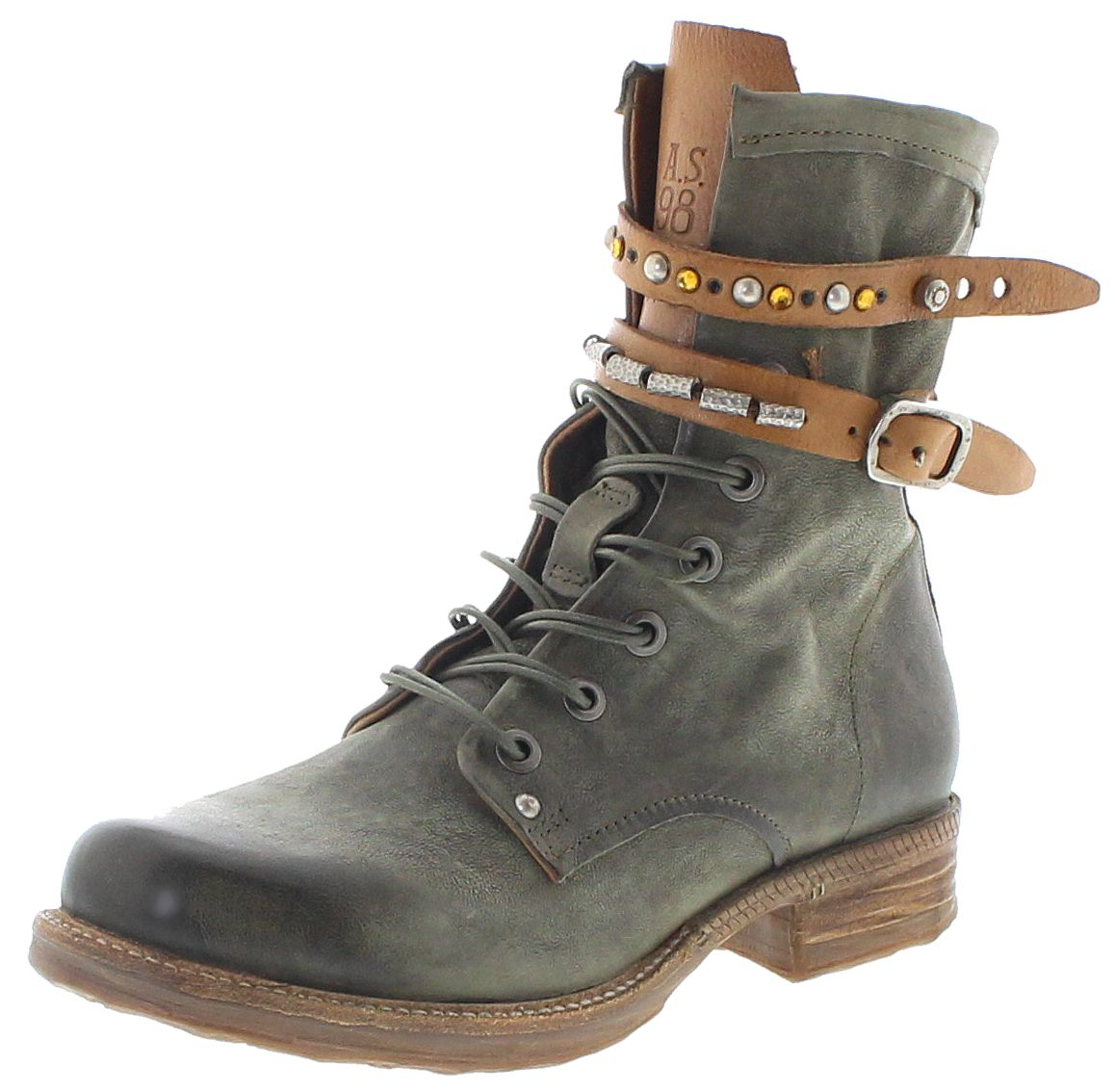 A.S.98 520297 Militare Natur Fashion Ankle Boot - green