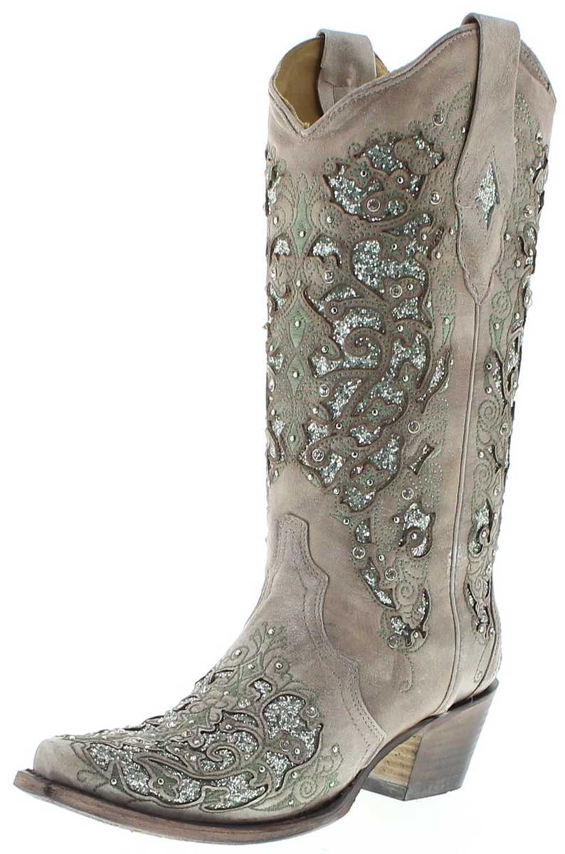 Corral Boots A3321 White Ladies western boots - white