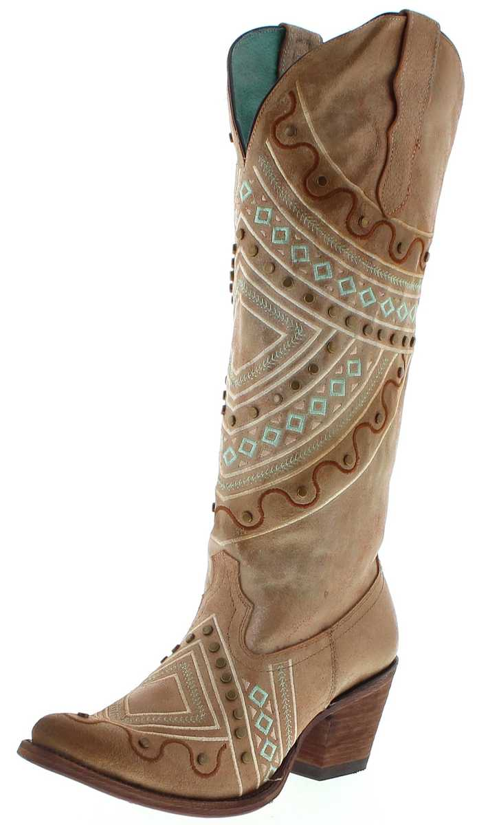Corral Boots E1378 Copper Ladies Western Boots - brown