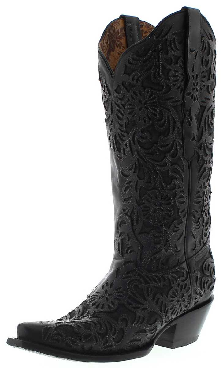 Corral Boots G1417 Black Ladies Western Boots - black
