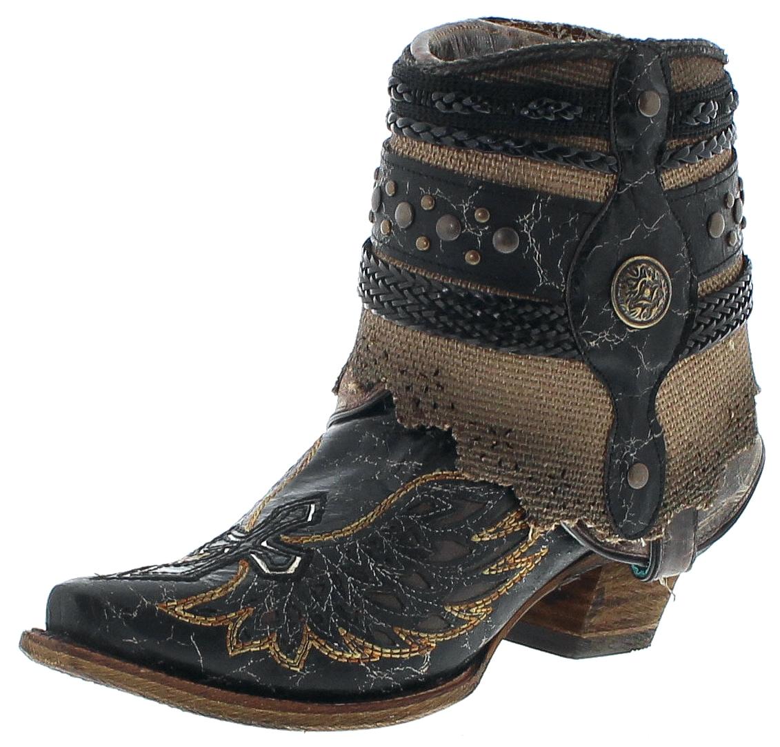 Corral Boots A3461 Black Damen Westernstiefelette - schwarz