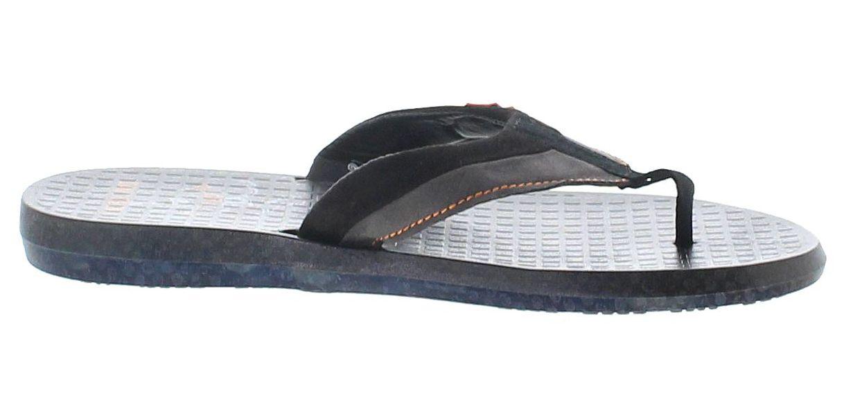ADAMS MENS HARLEY DAVIDSON SLIP ON TOE POST BLACK FLIP FLOPS SANDALS D93500