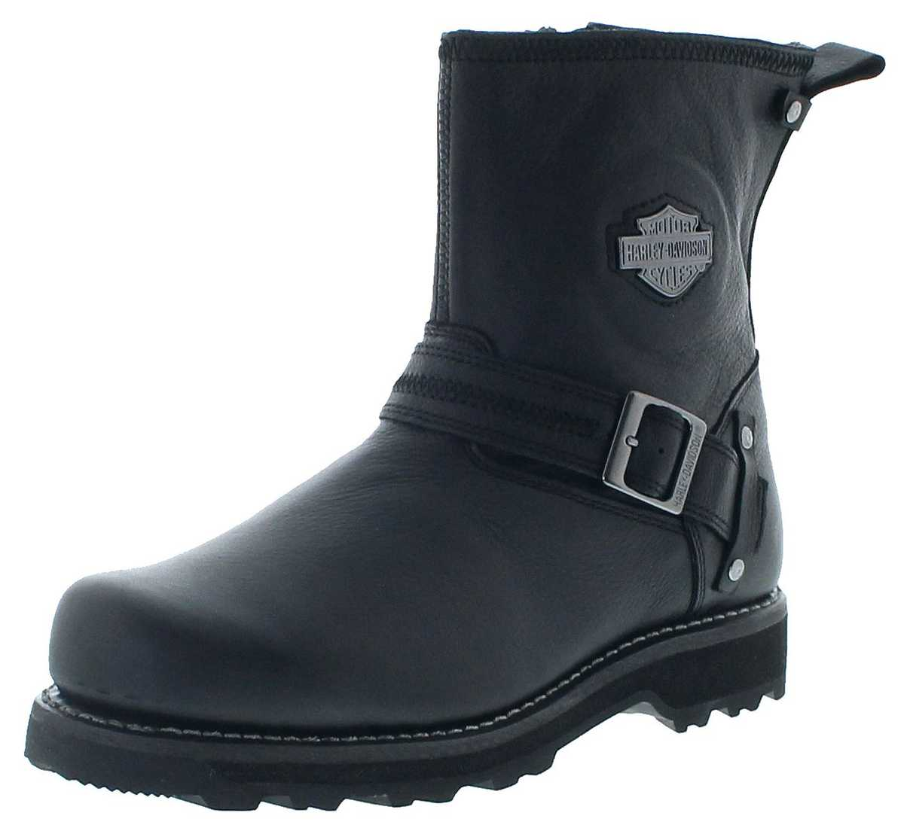 Harley-Davidson D93511 RICHTON Black Men Engineer Boots - black