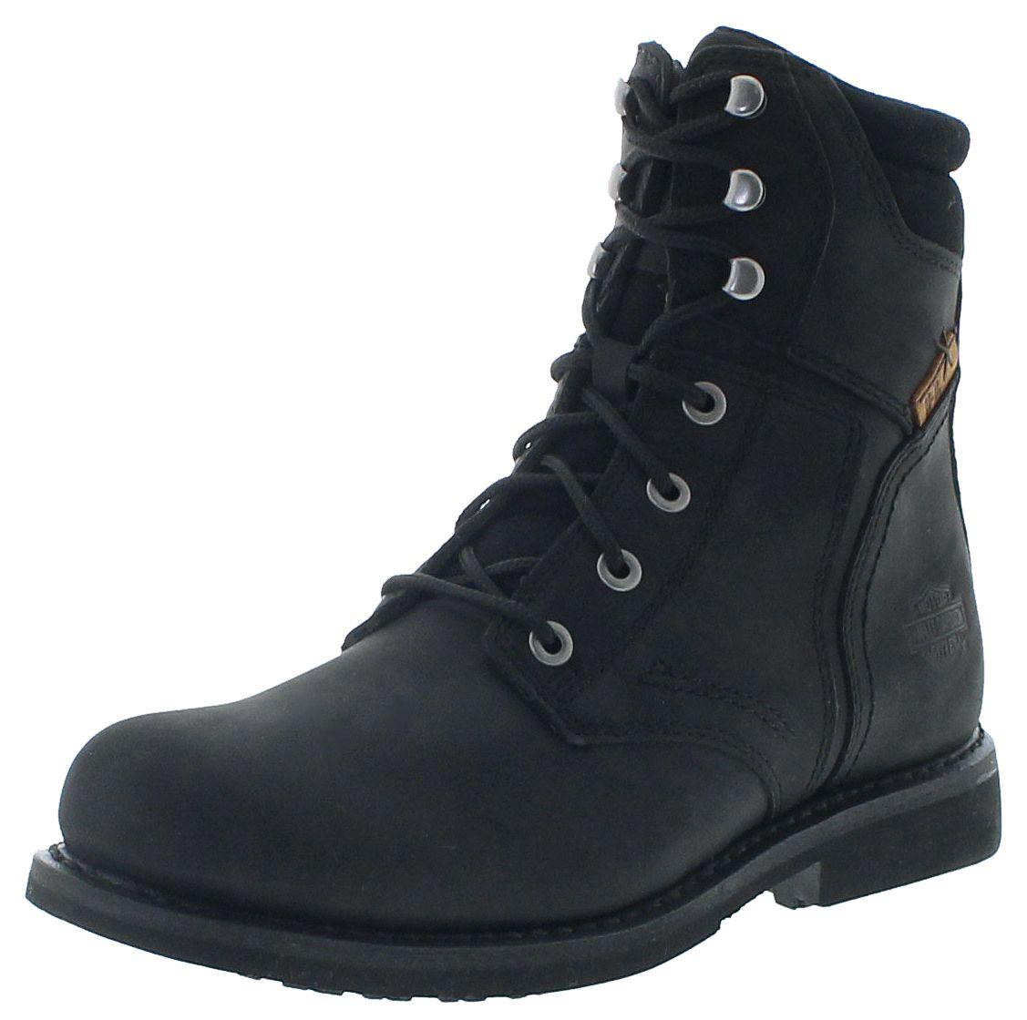 Harley-Davidson D97025 DARNEL CE Black men's lace-up boots - black