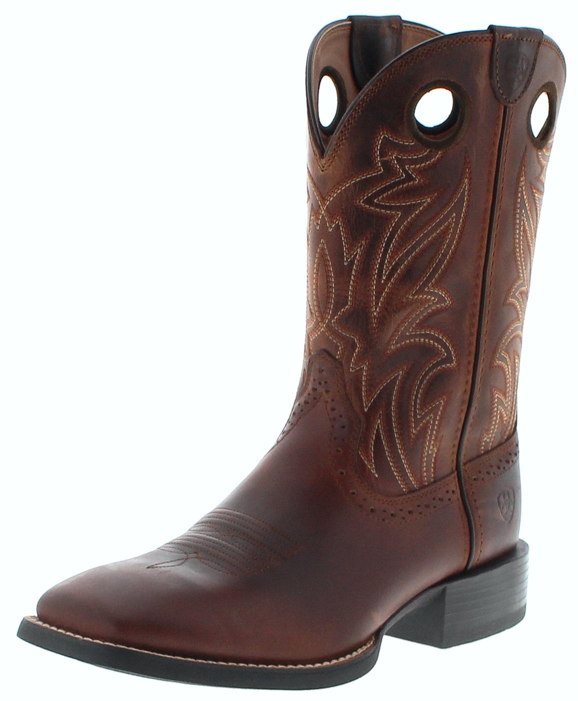Ariat 25131 SPORT SIDEBET Nutmeg Men's Western Riding Boots - brown