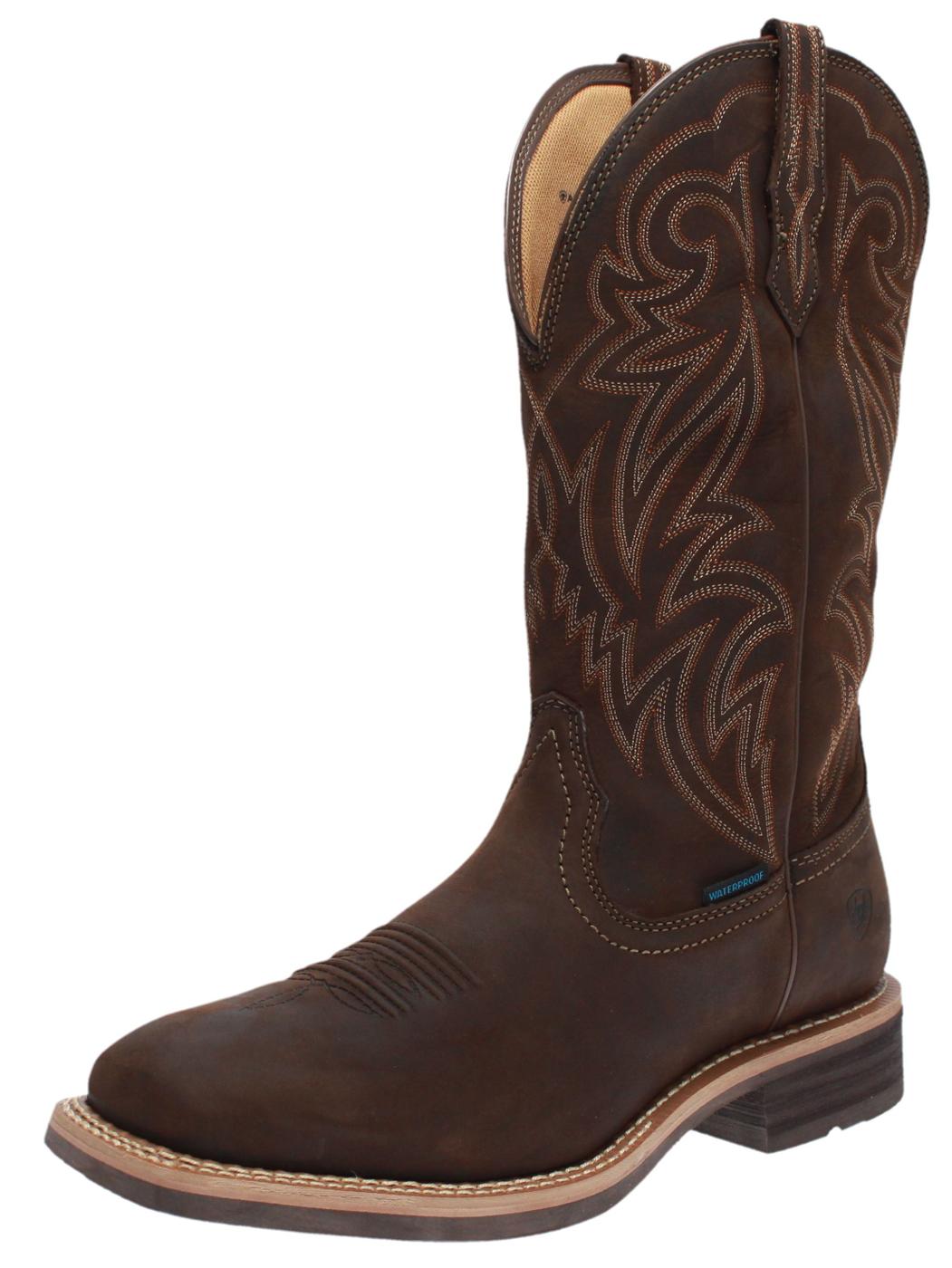 ARIAT 25134 TOMBSTONE H2O Brown waterproof men's western boots - brown