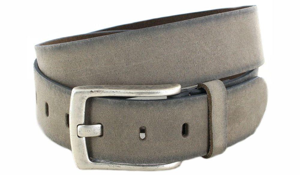 Vanzetti V4502-623 Taupe Unisex Ledergürtel - grau
