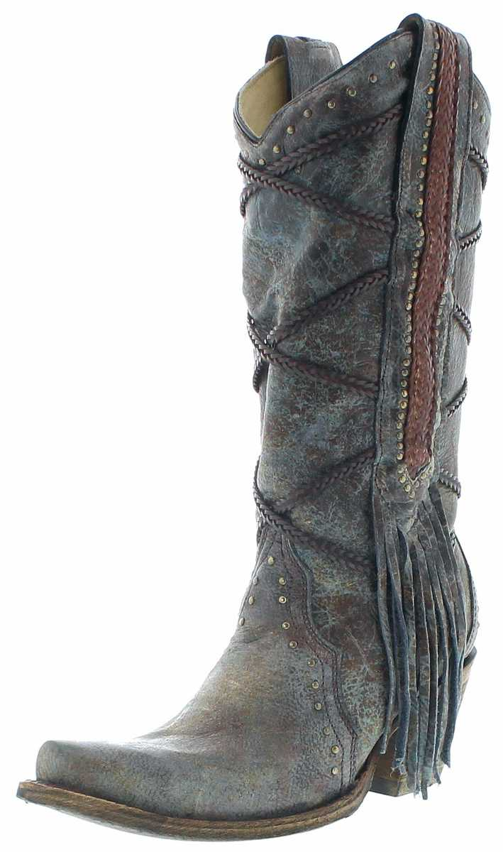 Corral Boots A3147 Western Boots - Blue Brown