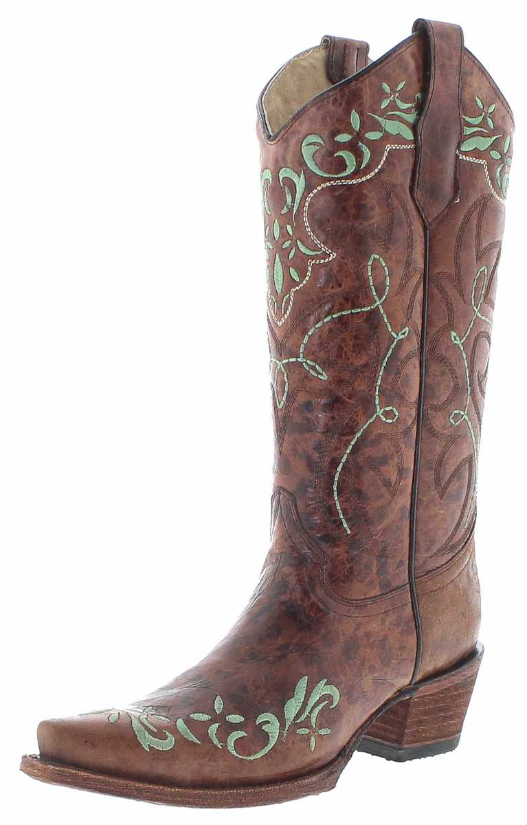 Circle G Boots L5493 Brown Women Western Boots - brown
