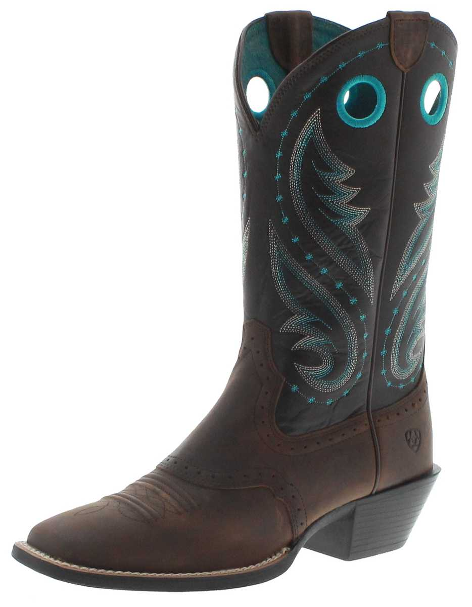 Ariat 29656 ROUND UP MELROSE Distressed Brown Boots Ladies - brown