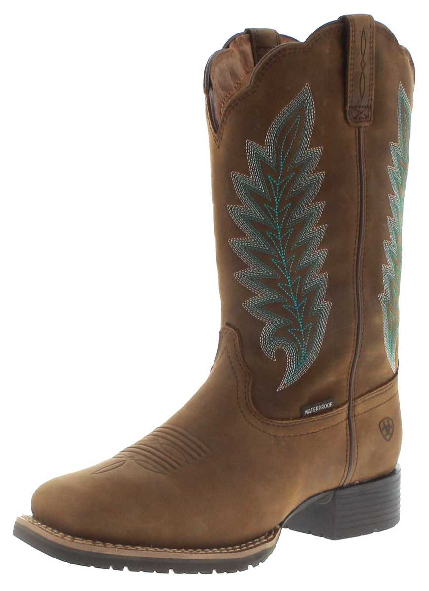 Ariat 29728 HYBRID RANCHER H2O Tan waterproof ladies western riding boots - brown
