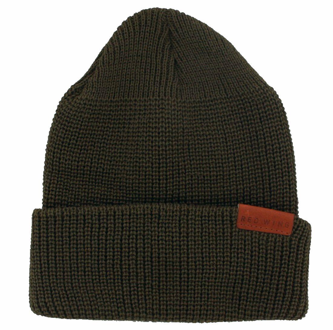 Red Wing Shoes 97491 MERINO WOOL KNIT CAP Men's wool hat - green