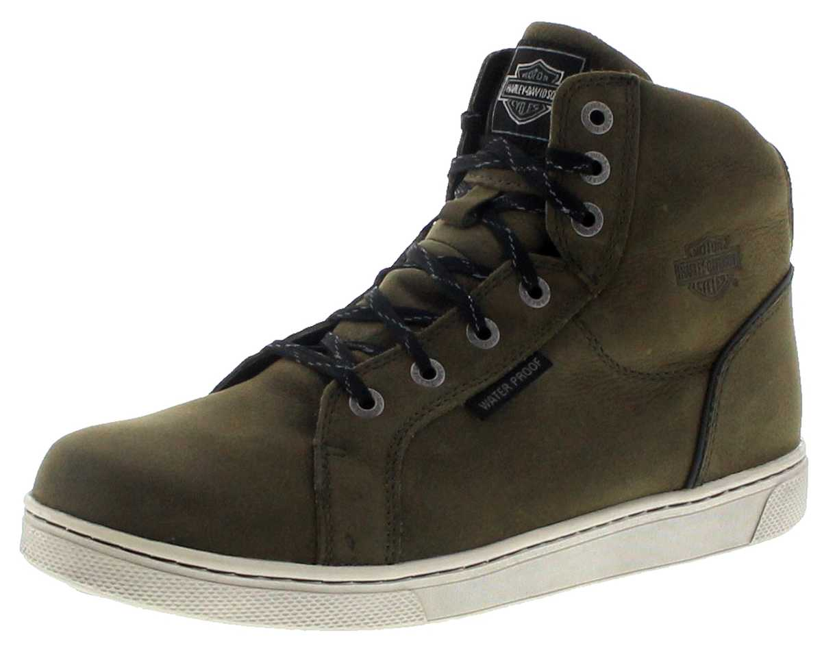 Harley Davidson D97134 MITRIC CE Olive waterproof Men's laced boots - green