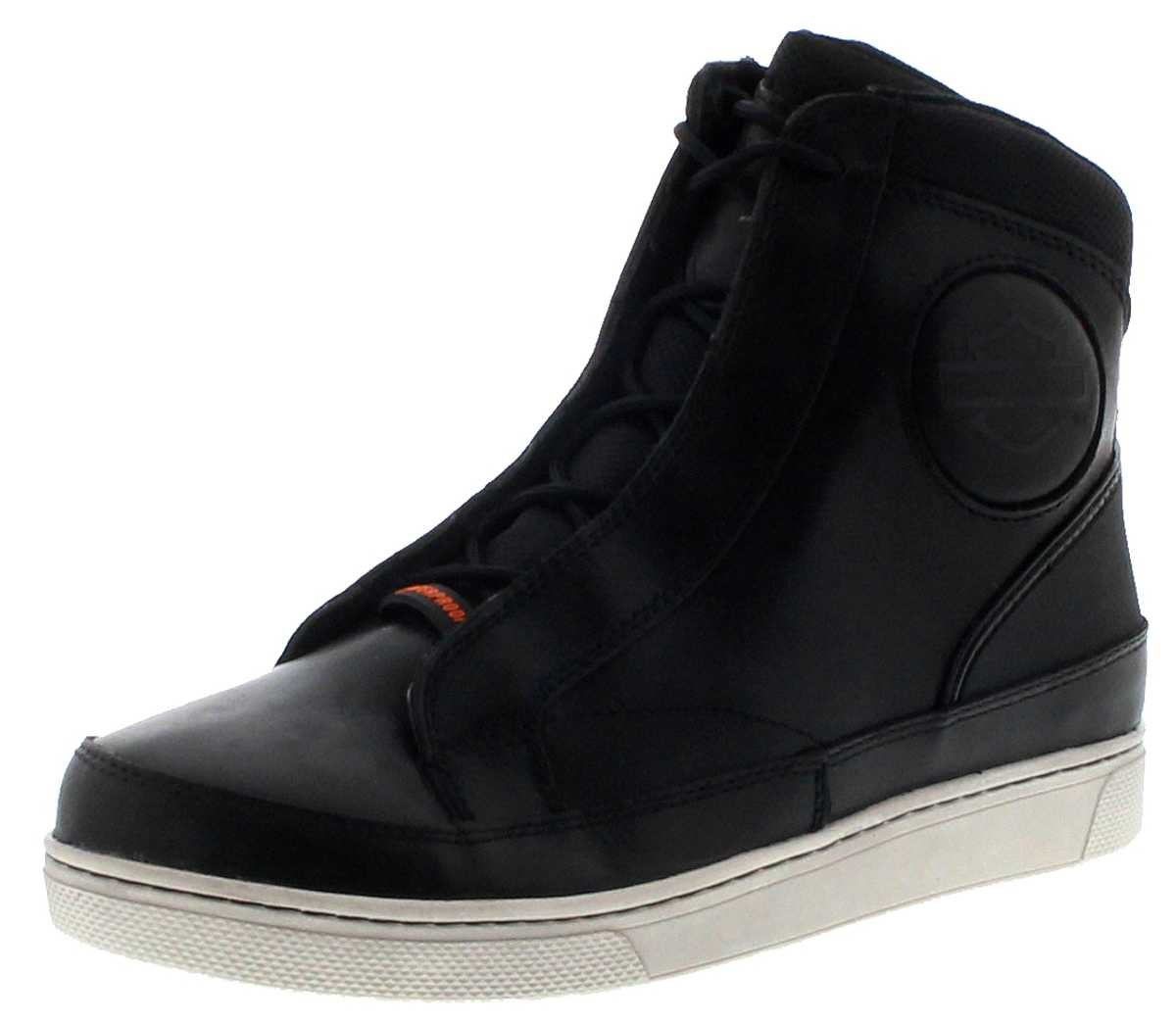 Harley Davidson D97094 VARDON CE Black waterproof men's high top sneaker - black