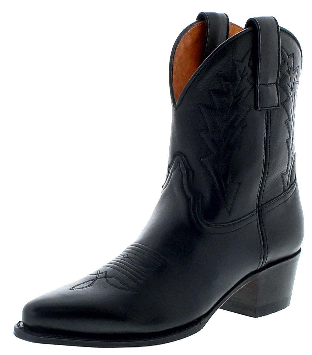 Sendra Boots 16367 Negro Damen Westernstiefelette - schwarz