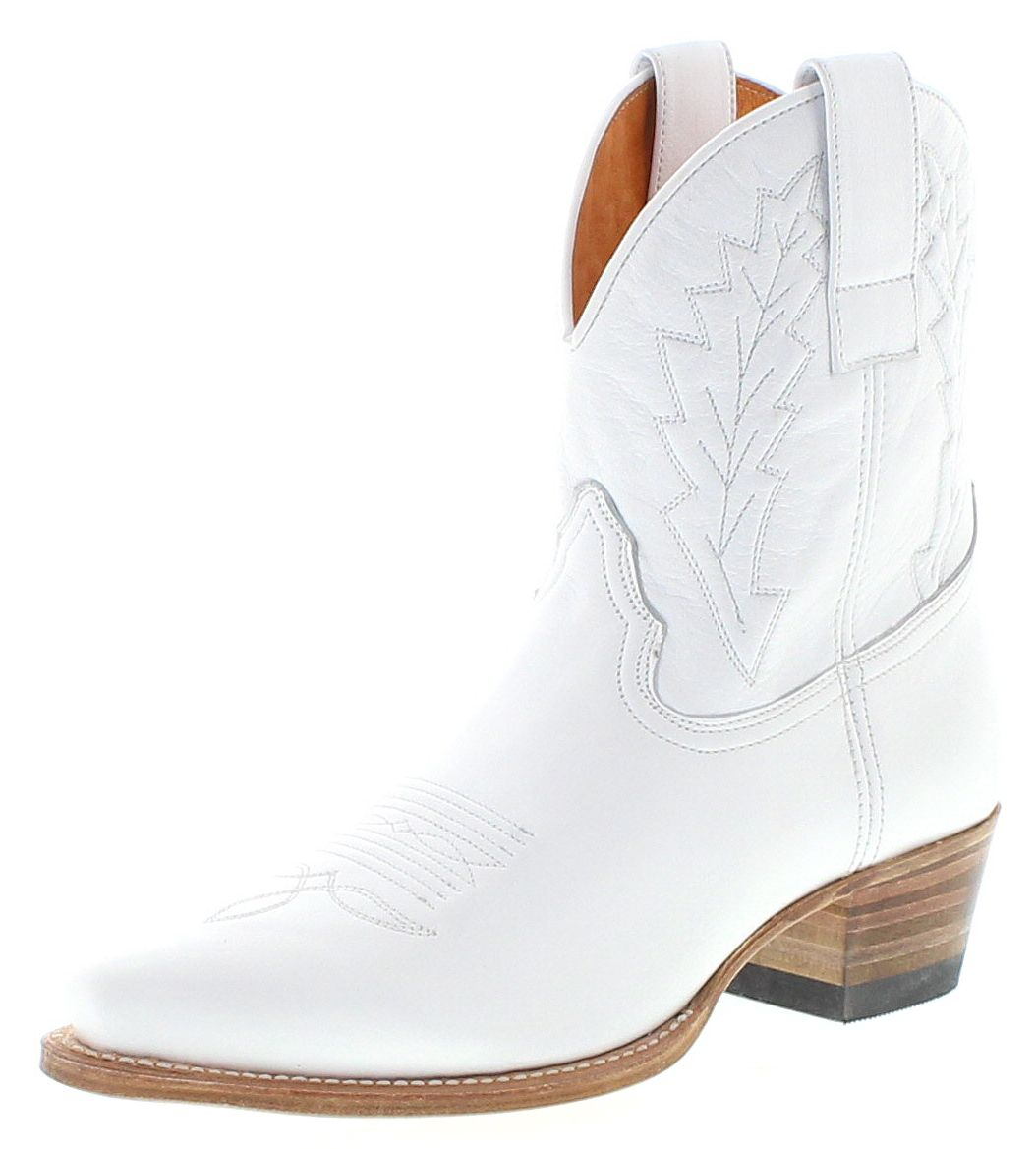 Sendra Boots 16367 Blanco Ladies Western Boots - White