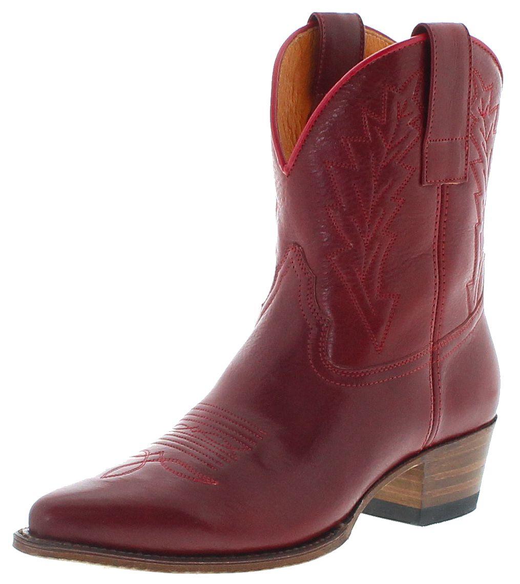 Sendra Boots 16367 Rojo Ladies Western Stiletto - Red