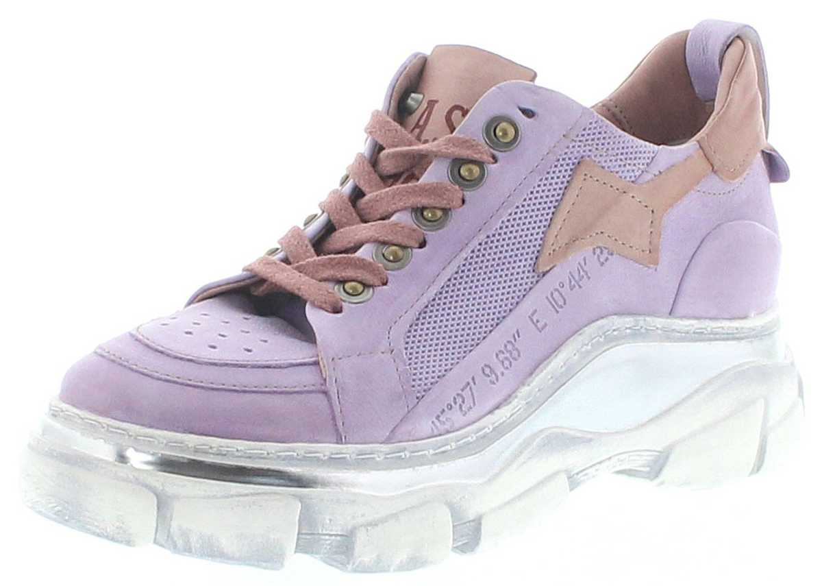 A.S.98 587104 Lilac Tropea ladies leather sneakers - purple