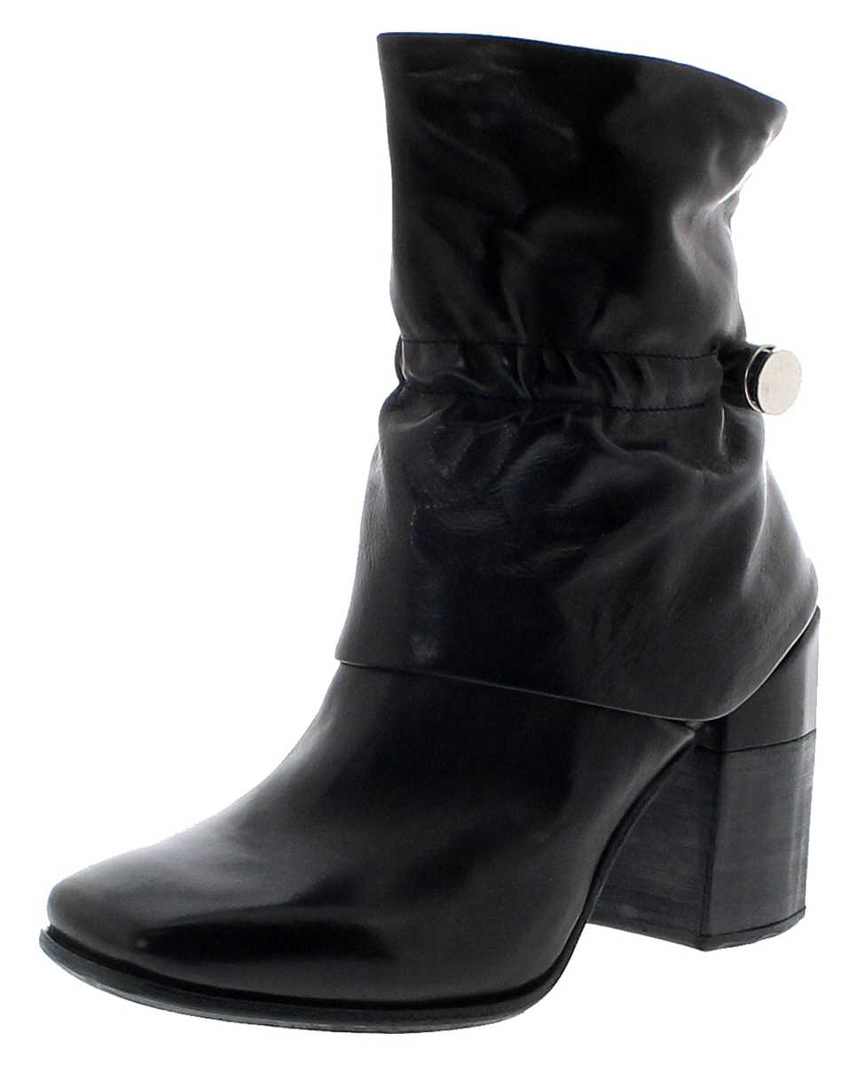 A.S.98 585204 Nero Fashion Ankle Boot - black