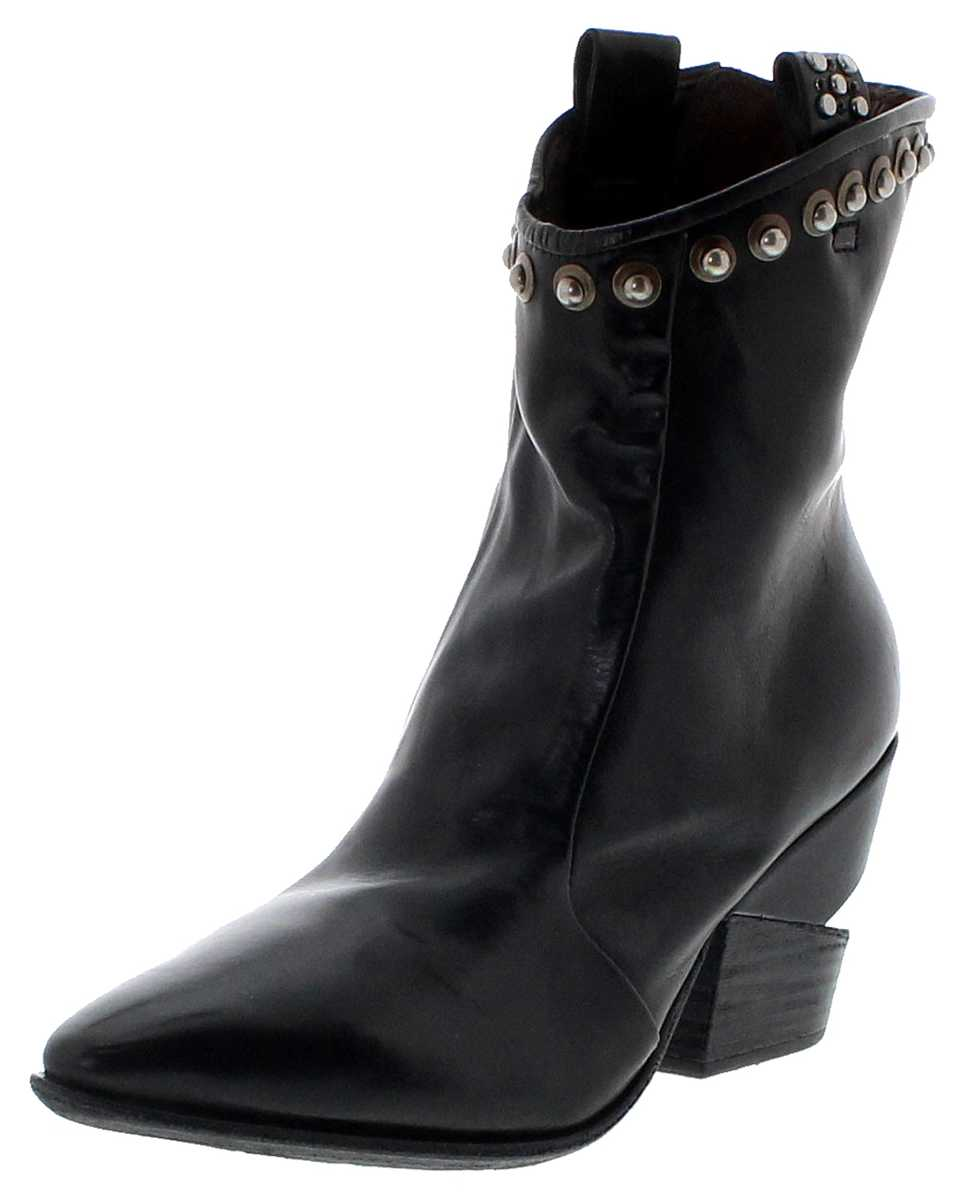 A.S.98 510211 Nero ladies fashion ankle boot - black