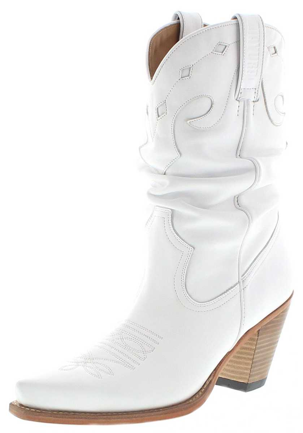 Mayura Boots 1952-X-B Blanco Ladies Western Boots - white