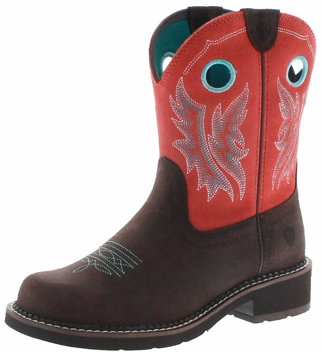 Ariat 23114 FATBABY HERITAGE COWGIRL Chocolate ladies western riding boots - brown