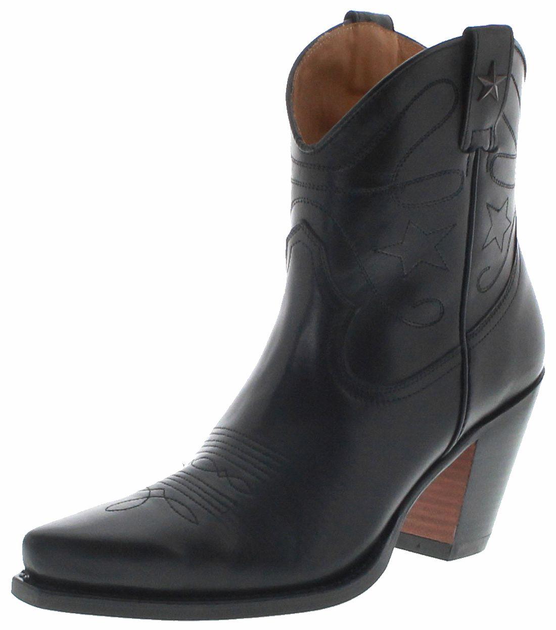 FB Fashion Boots 2498 Negro Ladies Western Bootee - black