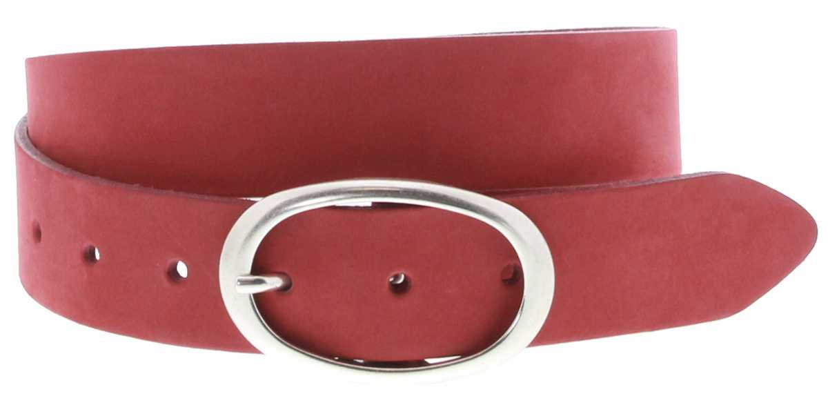 Vanzetti V5630-350 Ladies leather belt - red