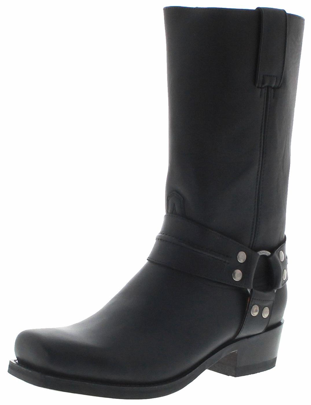 FB Fashion Boots BLUES HIGH Pull Negro Biker Boots - black