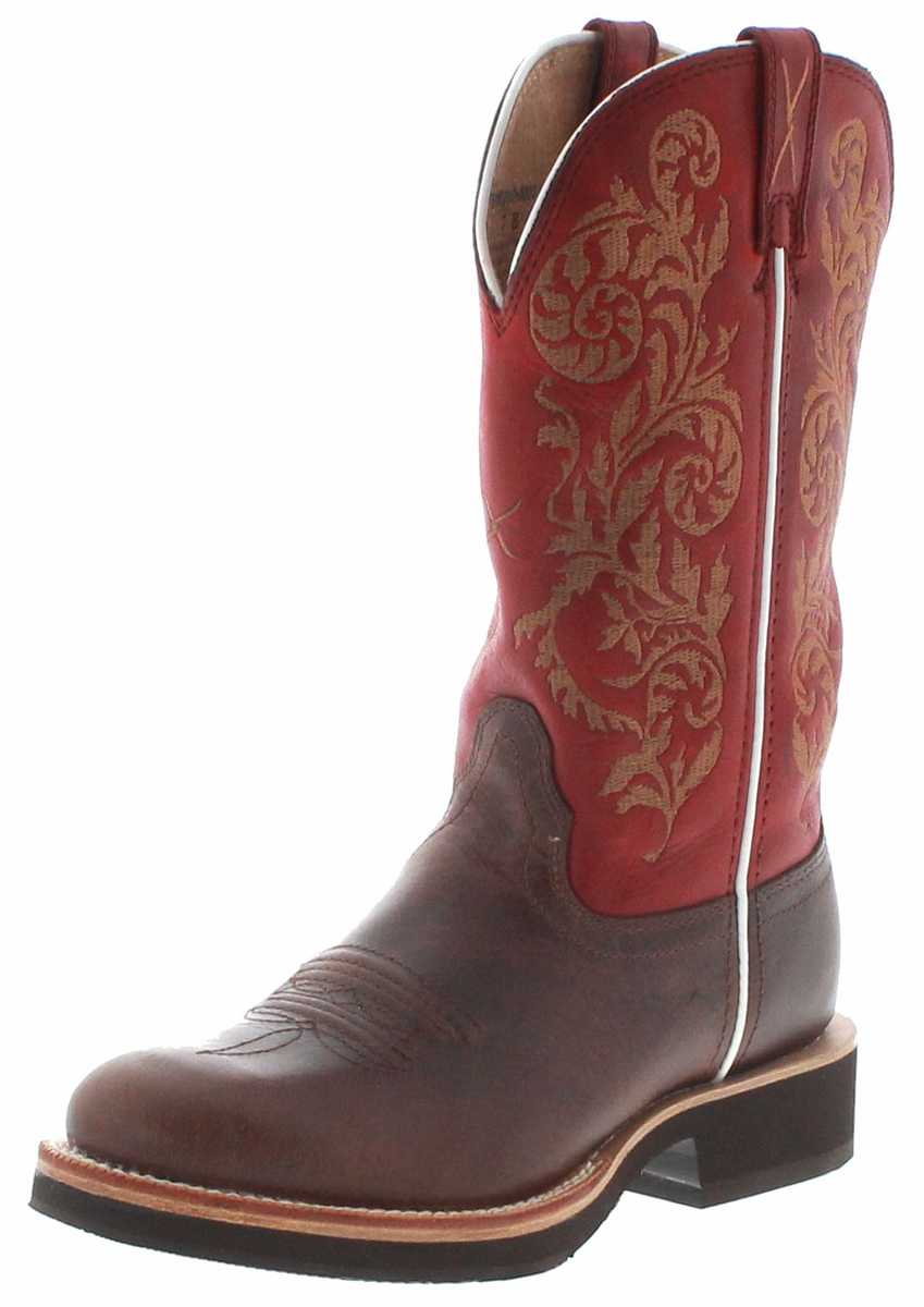 Twisted X Boots 1711 HORSEMAN Saddle Red Women's Western Riding Boots - brown red