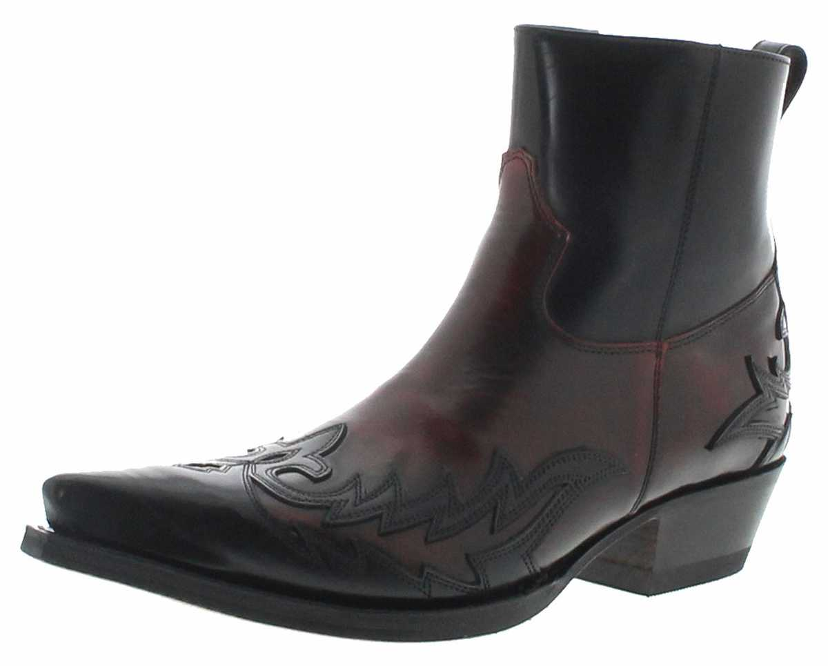 Sendra Boots 16698 Negro Rojo Men Western Boots - black red