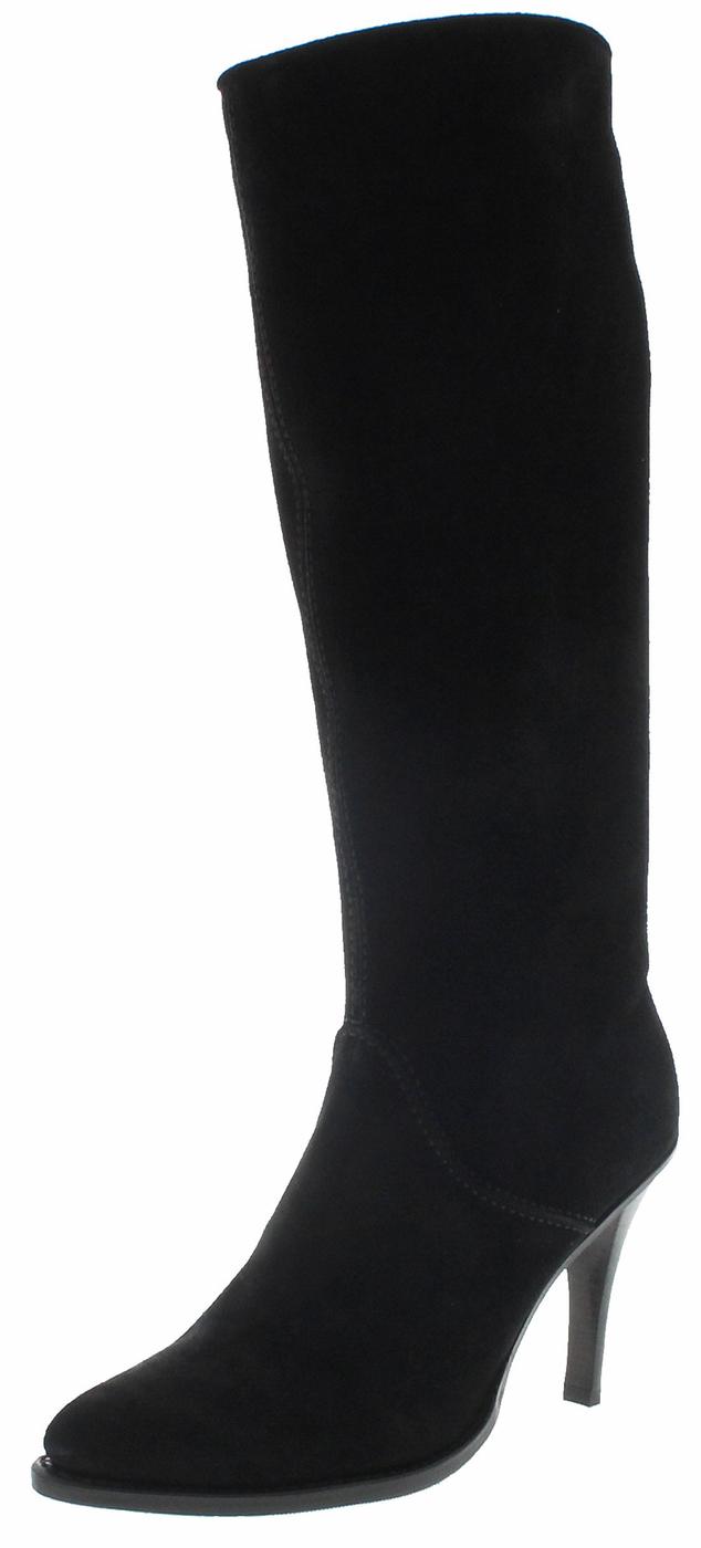 FB Fashion Boots EVA HIGH Negro Ladies Leather Boots - shwarz