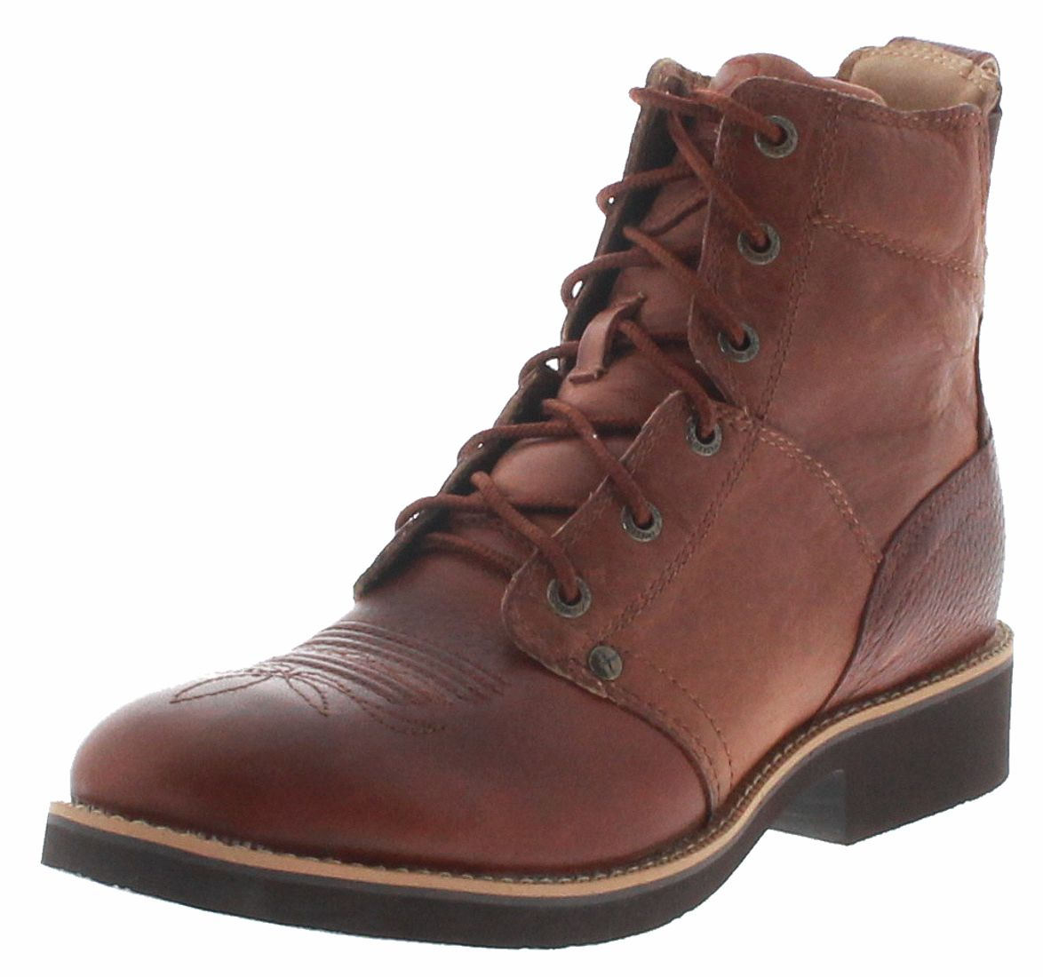 Twisted X 1739 CALF ROPER LACER Cognac ladies riding ankle boot - brown