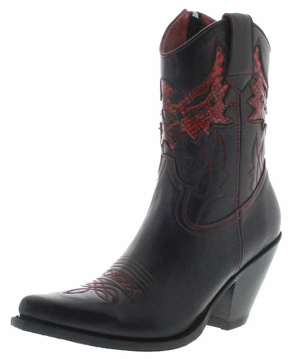 FB Fashion Boots LULU Negro Cinamon Ladies Western Bootee - black