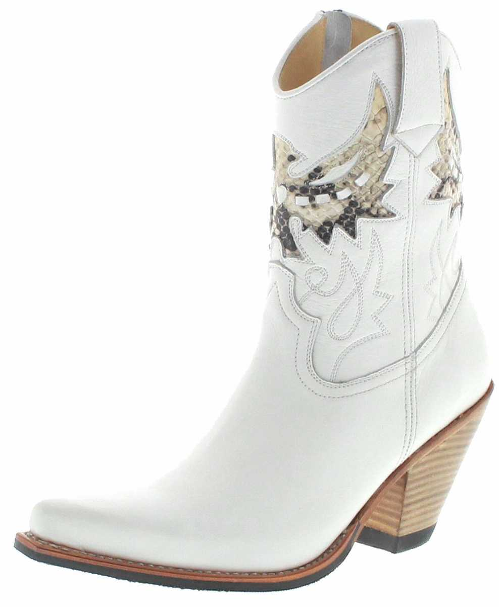 FB Fashion Boots LULU Blanco Aspid Ladies Western Ankle Boot - white